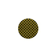 Circles3 Black Marble & Yellow Leather (r) 1  Mini Buttons