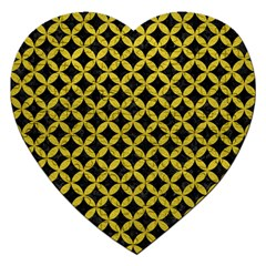 Circles3 Black Marble & Yellow Leather (r) Jigsaw Puzzle (heart)