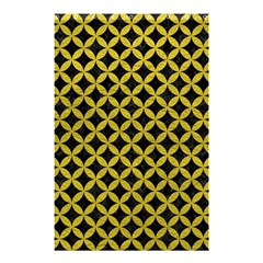 Circles3 Black Marble & Yellow Leather (r) Shower Curtain 48  X 72  (small)