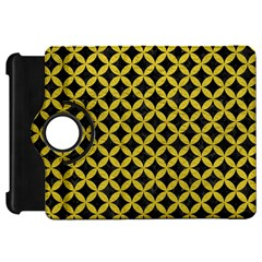 Circles3 Black Marble & Yellow Leather (r) Kindle Fire Hd 7