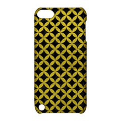 Circles3 Black Marble & Yellow Leather (r) Apple Ipod Touch 5 Hardshell Case With Stand