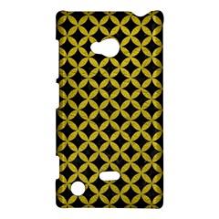 Circles3 Black Marble & Yellow Leather (r) Nokia Lumia 720