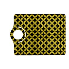 Circles3 Black Marble & Yellow Leather (r) Kindle Fire Hd (2013) Flip 360 Case