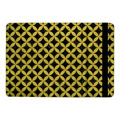 Circles3 Black Marble & Yellow Leather (r) Samsung Galaxy Tab Pro 10 1  Flip Case