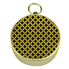 Circles3 Black Marble & Yellow Leather (r) Gold Compasses