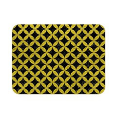 Circles3 Black Marble & Yellow Leather (r) Double Sided Flano Blanket (mini)