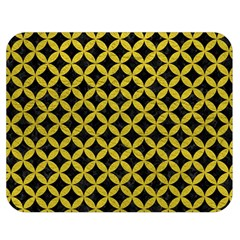 Circles3 Black Marble & Yellow Leather (r) Double Sided Flano Blanket (medium)