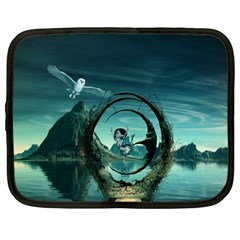 Cute Fairy Dancing On The Moon Netbook Case (large)