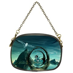 Cute Fairy Dancing On The Moon Chain Purses (one Side)