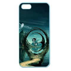Cute Fairy Dancing On The Moon Apple Seamless Iphone 5 Case (color)