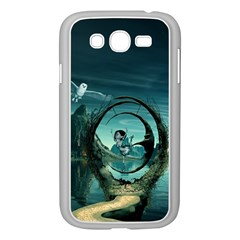 Cute Fairy Dancing On The Moon Samsung Galaxy Grand Duos I9082 Case (white)
