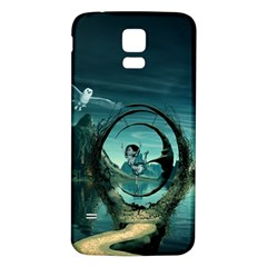 Cute Fairy Dancing On The Moon Samsung Galaxy S5 Back Case (white)