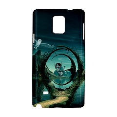 Cute Fairy Dancing On The Moon Samsung Galaxy Note 4 Hardshell Case