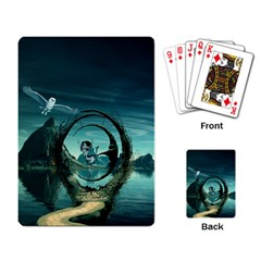 Cute Fairy Dancing On The Moon Playing Card