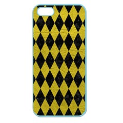 Diamond1 Black Marble & Yellow Leather Apple Seamless Iphone 5 Case (color)