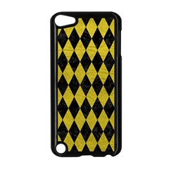 Diamond1 Black Marble & Yellow Leather Apple Ipod Touch 5 Case (black)