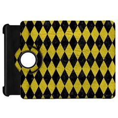 Diamond1 Black Marble & Yellow Leather Kindle Fire Hd 7