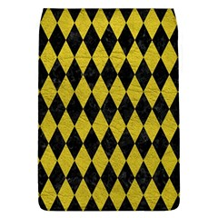 Diamond1 Black Marble & Yellow Leather Flap Covers (l)