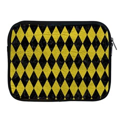 Diamond1 Black Marble & Yellow Leather Apple Ipad 2/3/4 Zipper Cases