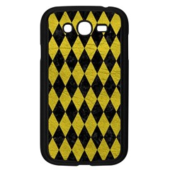 Diamond1 Black Marble & Yellow Leather Samsung Galaxy Grand Duos I9082 Case (black)