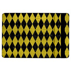 Diamond1 Black Marble & Yellow Leather Ipad Air Flip