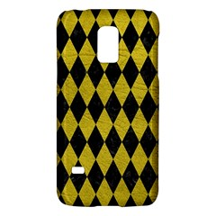 Diamond1 Black Marble & Yellow Leather Galaxy S5 Mini