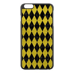Diamond1 Black Marble & Yellow Leather Apple Iphone 6 Plus/6s Plus Black Enamel Case