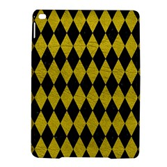 Diamond1 Black Marble & Yellow Leather Ipad Air 2 Hardshell Cases