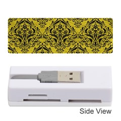 Damask1 Black Marble & Yellow Leather Memory Card Reader (stick)