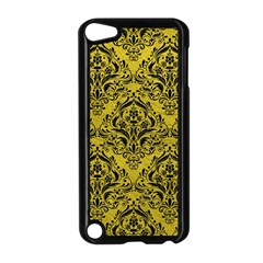 Damask1 Black Marble & Yellow Leather Apple Ipod Touch 5 Case (black)
