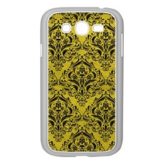 Damask1 Black Marble & Yellow Leather Samsung Galaxy Grand Duos I9082 Case (white)