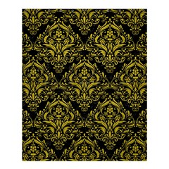 Damask1 Black Marble & Yellow Leather (r) Shower Curtain 60  X 72  (medium)