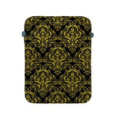 Damask1 Black Marble & Yellow Leather (r) Apple Ipad 2/3/4 Protective Soft Cases