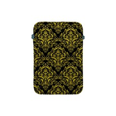 Damask1 Black Marble & Yellow Leather (r) Apple Ipad Mini Protective Soft Cases