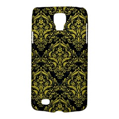 Damask1 Black Marble & Yellow Leather (r) Galaxy S4 Active