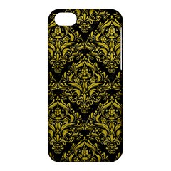 Damask1 Black Marble & Yellow Leather (r) Apple Iphone 5c Hardshell Case
