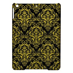 Damask1 Black Marble & Yellow Leather (r) Ipad Air Hardshell Cases