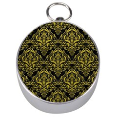 Damask1 Black Marble & Yellow Leather (r) Silver Compasses