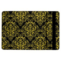 Damask1 Black Marble & Yellow Leather (r) Ipad Air Flip