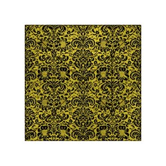Damask2 Black Marble & Yellow Leather Acrylic Tangram Puzzle (4  X 4 )