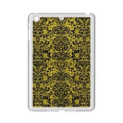 Damask2 Black Marble & Yellow Leather Ipad Mini 2 Enamel Coated Cases