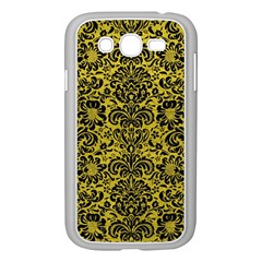 Damask2 Black Marble & Yellow Leather Samsung Galaxy Grand Duos I9082 Case (white)