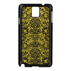Damask2 Black Marble & Yellow Leather Samsung Galaxy Note 3 N9005 Case (black)
