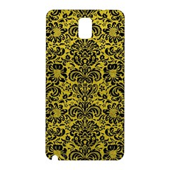 Damask2 Black Marble & Yellow Leather Samsung Galaxy Note 3 N9005 Hardshell Back Case