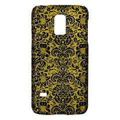 Damask2 Black Marble & Yellow Leather Galaxy S5 Mini