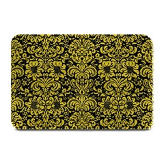 Damask2 Black Marble & Yellow Leather (r) Plate Mats