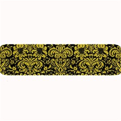 Damask2 Black Marble & Yellow Leather (r) Large Bar Mats