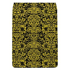 Damask2 Black Marble & Yellow Leather (r) Flap Covers (s)