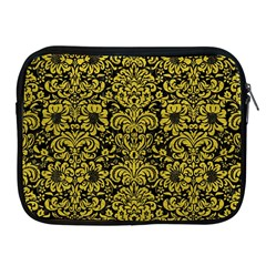 Damask2 Black Marble & Yellow Leather (r) Apple Ipad 2/3/4 Zipper Cases
