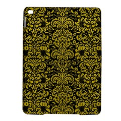 Damask2 Black Marble & Yellow Leather (r) Ipad Air 2 Hardshell Cases